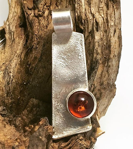 """""""Amber in the Rough"""" Pendant"""
