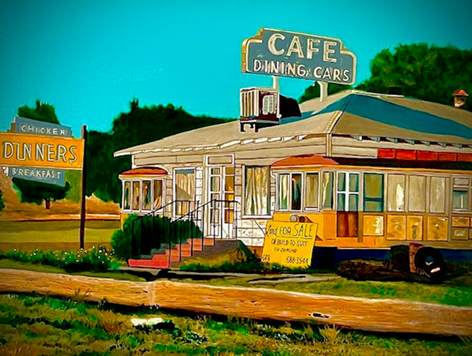 """JUST OUTSIDE OF BUELLTON  _________ GICLEE (30"""" x 40"""")"""