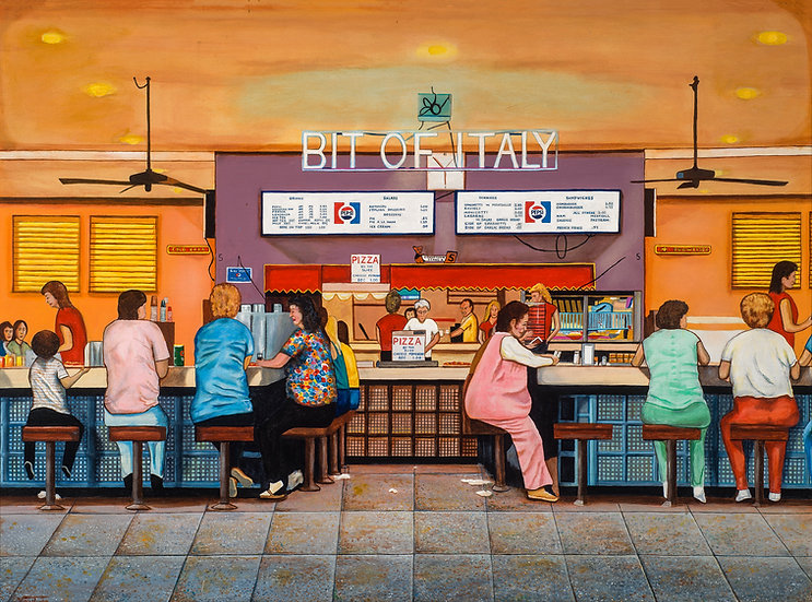 """BIT OF ITALY _________  Limited-Edition Giclees (36"""" x 48"""") Signed a Numbered"""