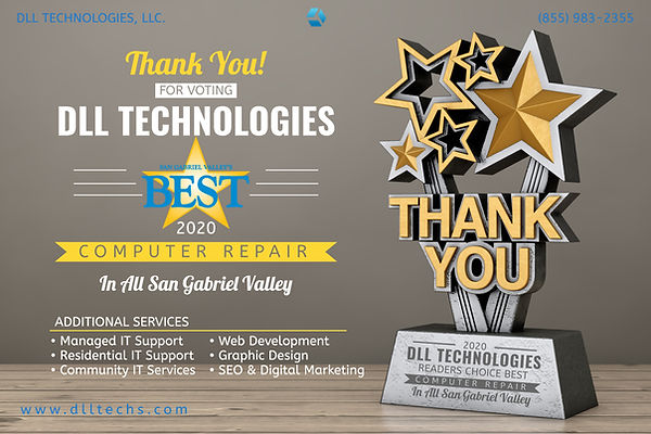 DLL won Best Computer Repair in SGV
