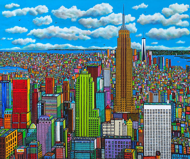 """NEW YORK SPRING • Limited-Edition Giclee (60"""" x 72"""")"""