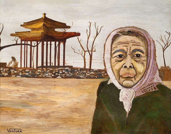"""HOPE _________ Origional Oil On Wooden Board (22"""" x 28"""")"""