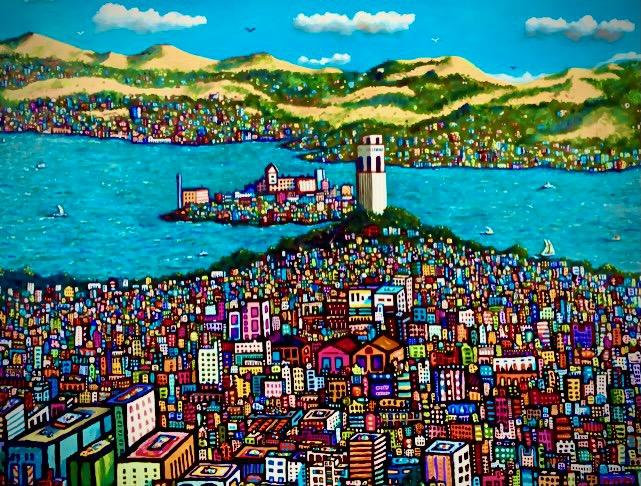 """COIT TOWER • Limited-Edition Giclee (30"""" x 40"""") Signed and Numbered"""