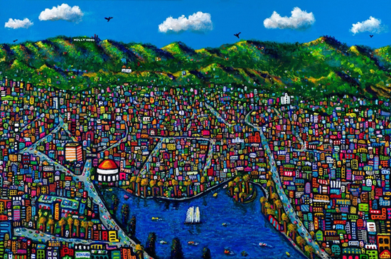 """ECHO PARK • Limited-Edition Giclee (24"""" x 36"""") Signed and Numbered"""