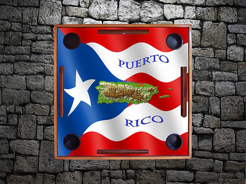 Puerto Rican Flag with Island