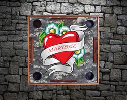 Maribel's Digital Camo Heart