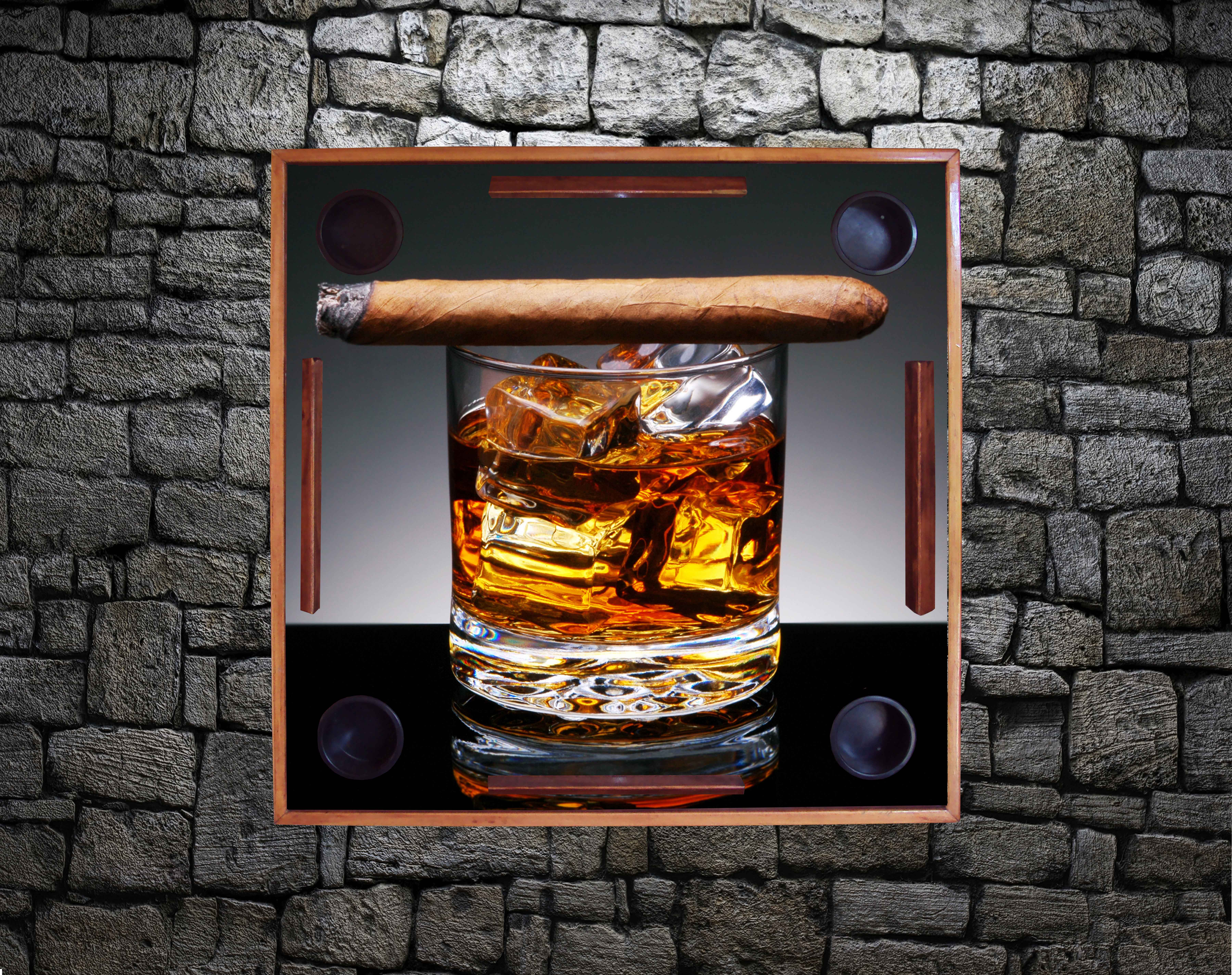 Cigar on Whiskey Glass