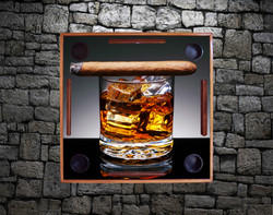 Cigar on Whiskey Glass