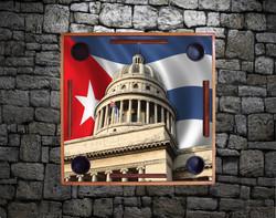 Capitolio & Cuban Flag