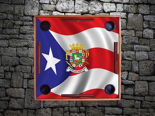 Bandera de Puerto Rico with Crest
