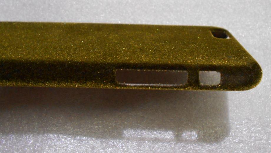 Funda celular dorada