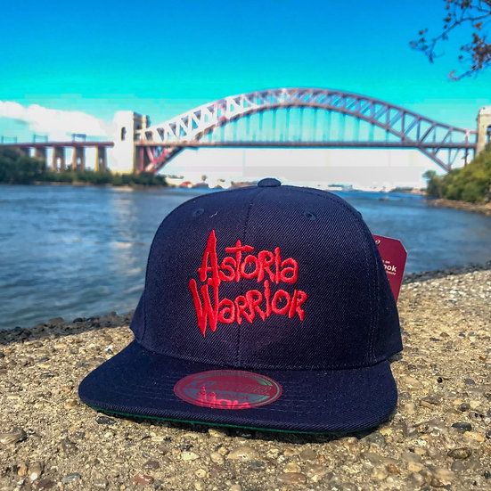 ASTORIA WARRIOR – NAVY W/ RED LOGO SNAPBACK HAT