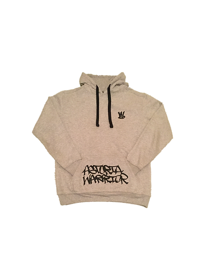 ASTORIA WARRIOR - LIGHT GREY PULL OVER SWEATER WITH BLACK A/W GRAPHICS