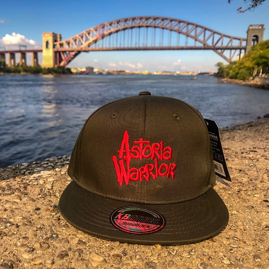 ASTORIA WARRIOR – OLIVE W/ RED LOGO SNAPBACK HAT