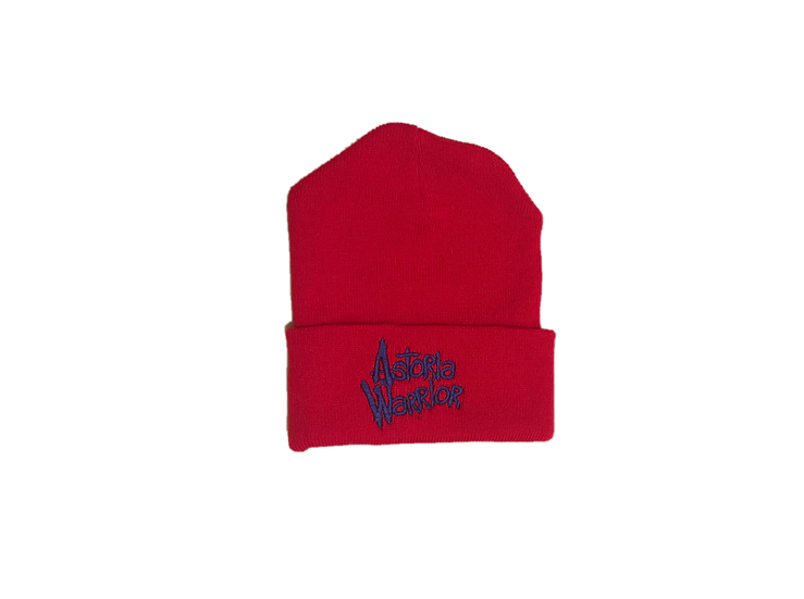ASTORIA WARRIOR - RED WOLL HAT W/ ROYAL BLUE A\W STITCHING
