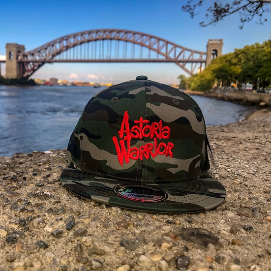 ASTORIA WARRIOR – CAMO W/ RED LOGO SNAPBACK HAT