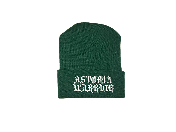 ASTORIA WARRIOR -GREEN WOOL HAT W/ WHITE A\W STITCHING