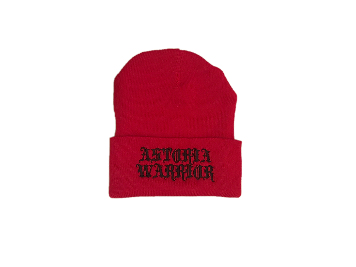 ASTORIA WARRIOR - RED WOOL HAT W/ BLACK A\W STITCHING