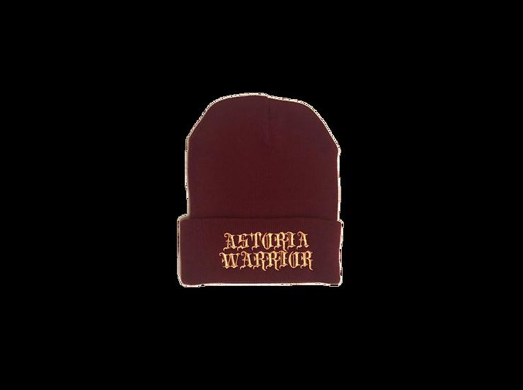 ASTORIA WARRIOR - BURGUNDY WOOL HAT W/ GOLD STITCHING