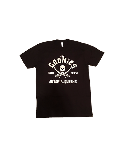 ASTORIA WARRIOR -BLACK A/W TEE WITH WHITE  (THE GOONIES) GRAPHICS