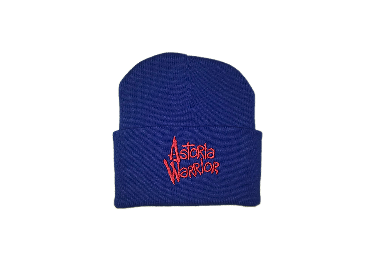 ASTORIA WARRIOR - ROYAL BLUE WOOL HAT W/ RED A\W STITCHING