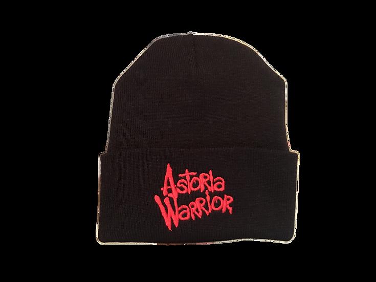 ASTORIA WARRIOR - BLACK WOOL HAT W/ RED A/W STITCHING