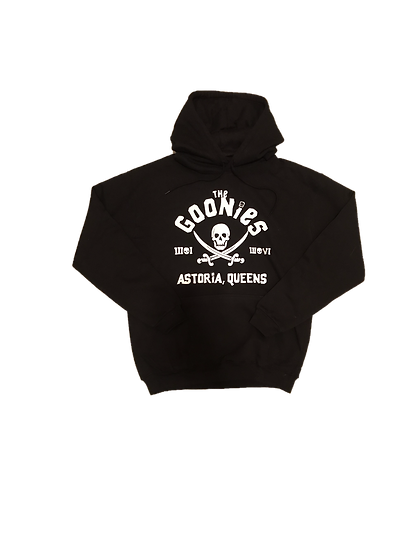 ASTORIA WARRIOR - BLACK HOODY WITH WHITE GLOW IN THE DARK(THE GOONIES)GRAPHICS