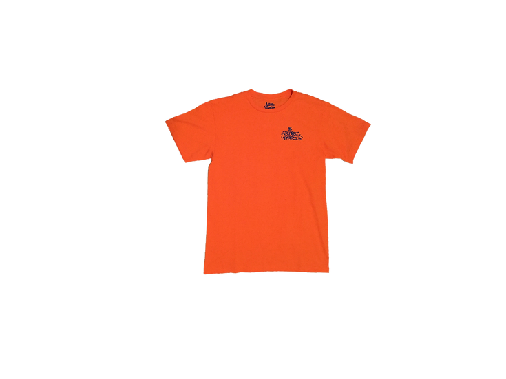 ASTORIA WARRIOR - ORANGE TEE SHIRT WITH ROYAL BLUE GRAFF GRAPHICS