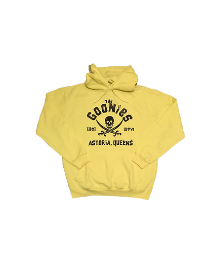 ASTORIA WARRIOR - NEON YELLOW HOODY WITH BLACK(THE GOONIES)GRAPHICS