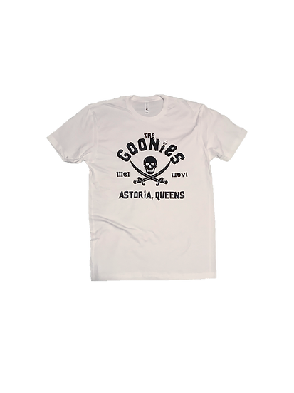 ASTORIA WARRIOR - WHITE A/W TEE WITH BLACK (THE GOONIES) GRAPHICS