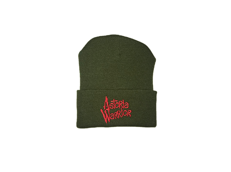 ASTORIA WARRIOR - OLIVE WOOL HAT W/ RED A\W STITCHING