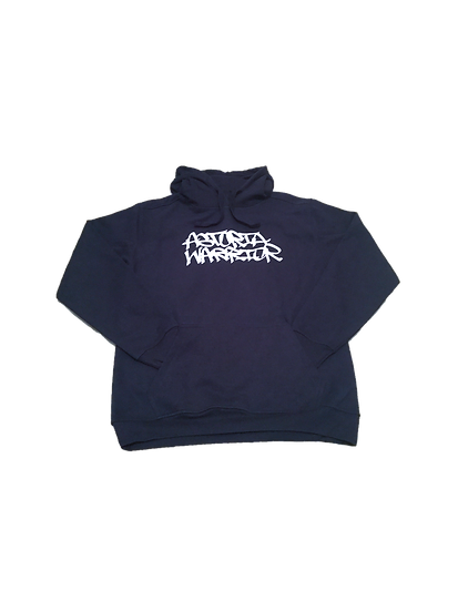 ASTORIA WARRIOR - NAVY BLUE A/W PULL OVER SWEATER W/ WHITE GRAPHICS