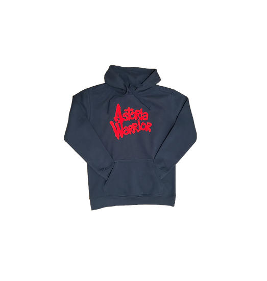 ASTORIA WARRIOR - ROYAL BLUE PULLOVER HOODY W/ RED A\W GRAPHICS