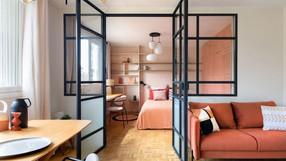 Antes/Depois: um pequeno apartamento  dos anos 60 decorado com um toque mediterrâneo