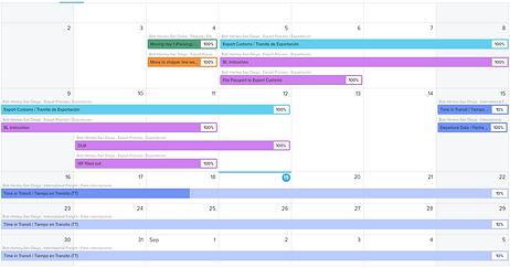 Moving Calendar