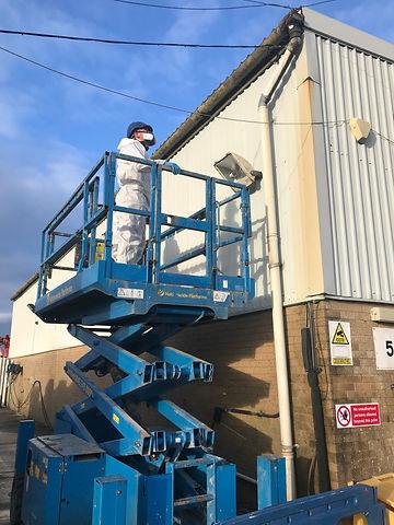 Asbestos exterior examination