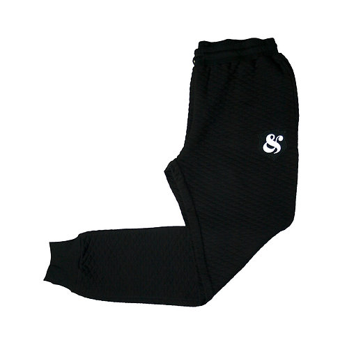 Quilted Jogger BLACK
