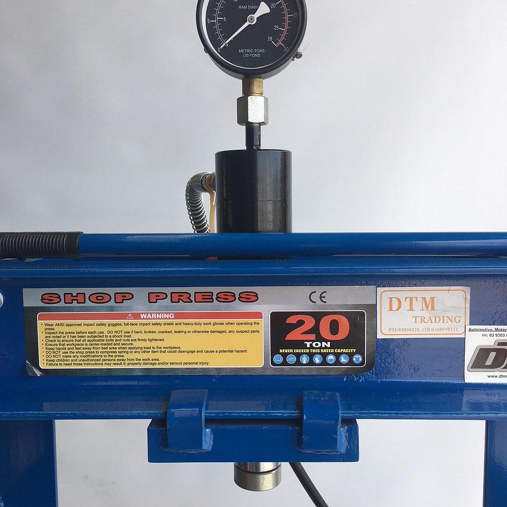 High/Low 20 Ton Hydraulic Shop Press | mysite