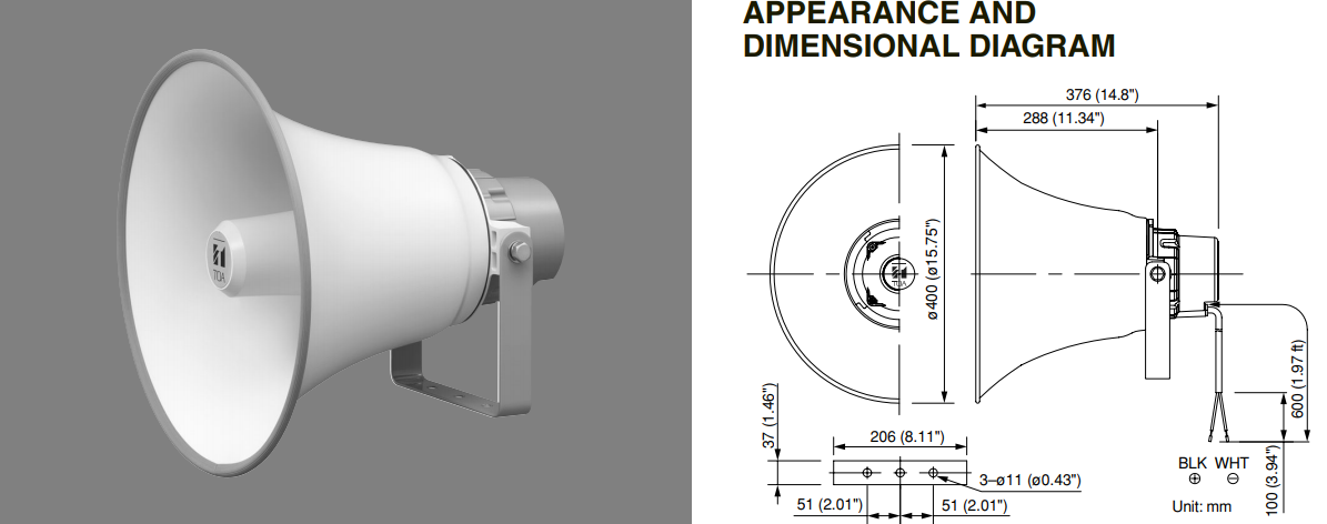 Dimension tc651m