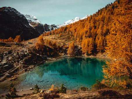 Le Lac Bleu d'Arolla : la star du val d'Hérens