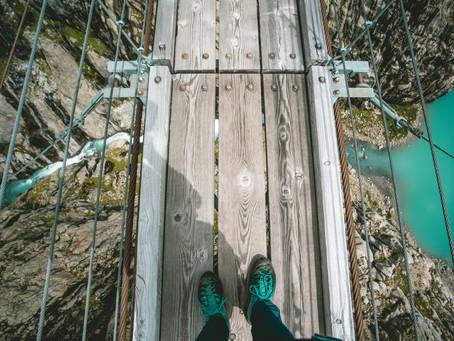Le pont du Trift - A la force du mollet