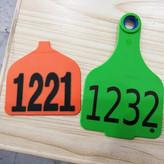Plastic Animal Ear Mark Label Printing (