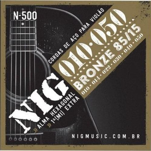 Encordoamento NIG para violão aço 010