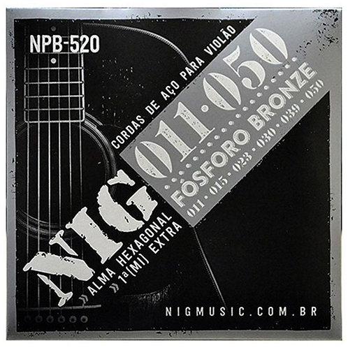 Encordoamento NIG para Violão Aço 011