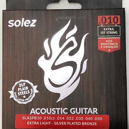 Encordoamento Solez para Violão 010 - Silver P.