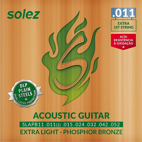 Encordoamento Solez para Violão 011 - Phospor B.