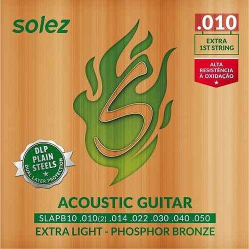 Encordoamento Solez para Violão 010 - Phospor B.