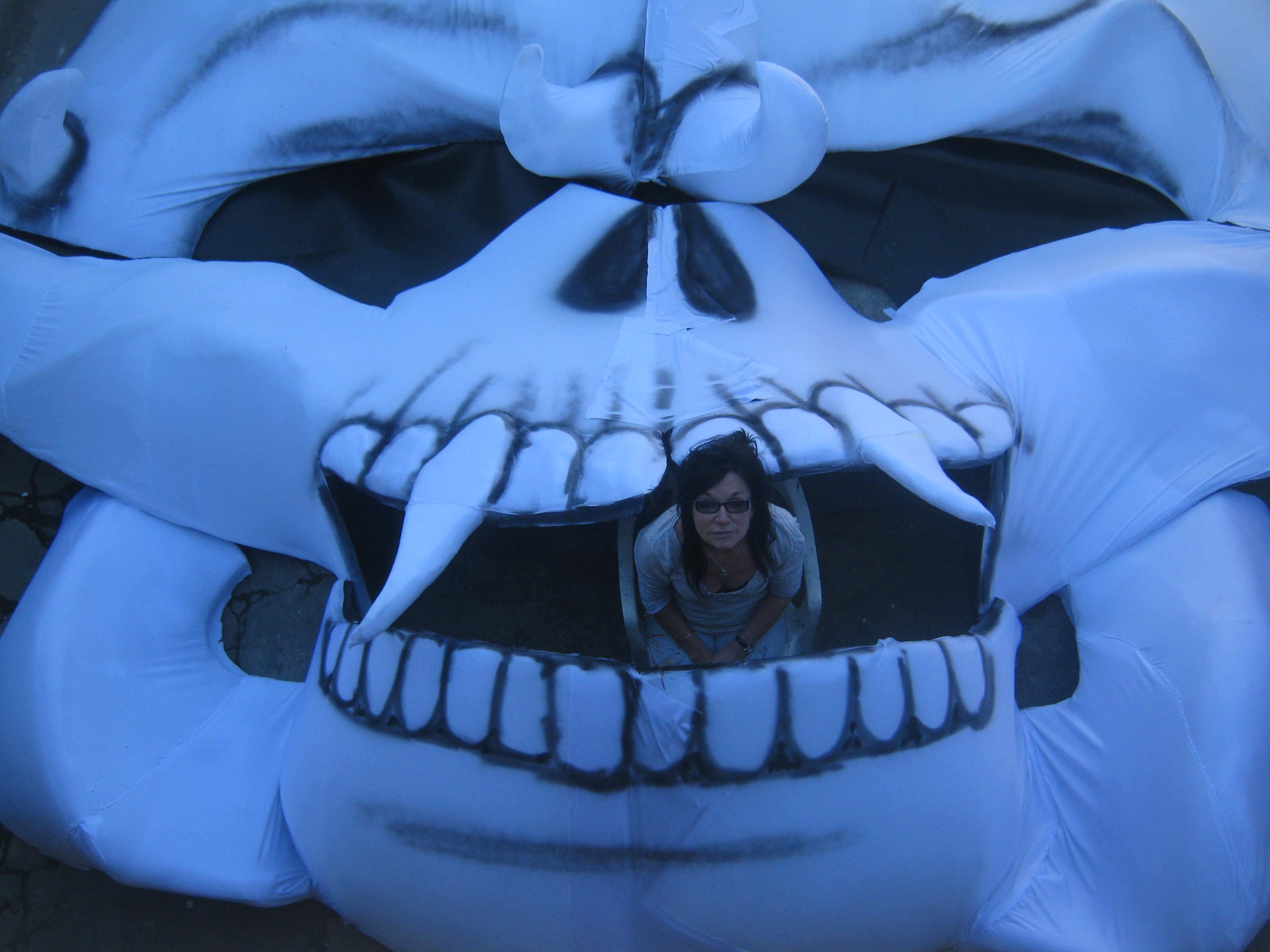 Large UV Skull Puppet