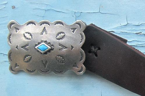 Diamond Turquoise Buckle