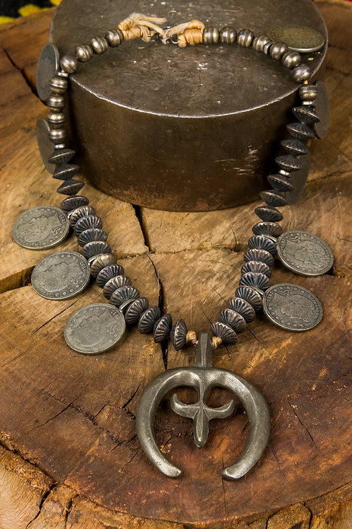Naja Necklace with Old Quarters